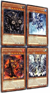 YuGiOh Zexal Lord of the Tachyon Galaxy Set of all 4 Dragon Ruler Rare Single Cards BLOWOUT SALE!