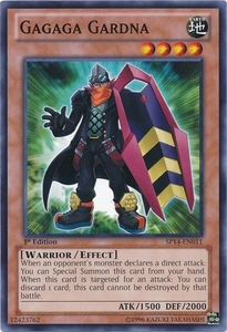 YuGiOh Zexal Star Pack 2014 Single Card SP14-EN011 Gagaga Gardna