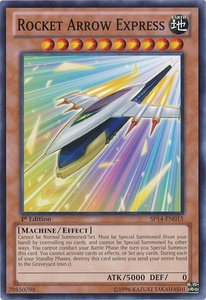 YuGiOh Zexal Star Pack 2014 Single Card SP14-EN015 Rocket Arrow Express