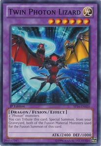 YuGiOh Zexal Star Pack 2014 Single Card SP14-EN020 Twin Photon Lizard