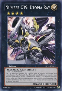 YuGiOh Zexal Star Pack 2014 Single Card SP14-EN022 Number C39: Utopia Ray