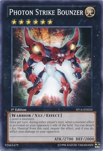 YuGiOh Zexal Star Pack 2014 Single Card SP14-EN024 Photon Strike Bounzer