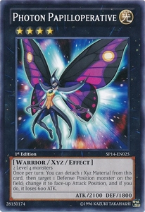 YuGiOh Zexal Star Pack 2014 Single Card SP14-EN025 Photon Papilloperative