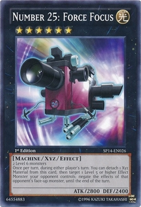 YuGiOh Zexal Star Pack 2014 Single Card SP14-EN026 Number 25: Force Focus