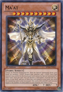 YuGiOh Zexal Star Pack 2014 Single Card SP14-EN042 Ma'at