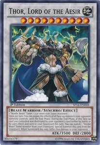 YuGiOh Zexal Star Pack 2014 Single Card SP14-EN048 Thor, Lord of the Aesir