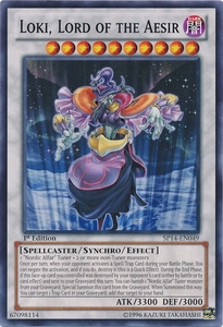 YuGiOh Zexal Star Pack 2014 Single Card SP14-EN049 Loki, Lord of the Aesir