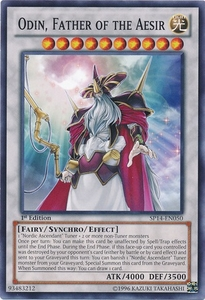 YuGiOh Zexal Star Pack 2014 Single Card SP14-EN050 Odin, Father of the Aesir