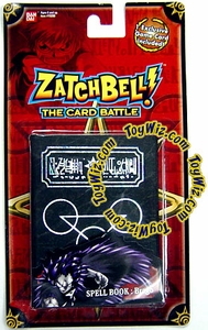 Zatch Bell Card Battle Brago's Black Spell Book with Silver Inlay Sealed with Promo Card! [Red Card] BLOWOUT SALE!