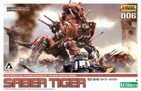 Zoids Kotobukiya 1/72 Scale HMM 006 Model Kit EZ-016 Saber Tiger