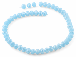 10mm Light Blue Faceted Rondelle Crystal Beads