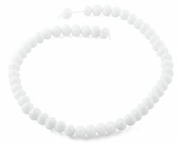 10mm White Faceted Rondelle Crystal Beads