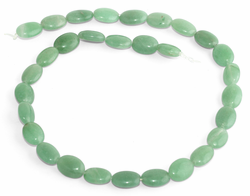 10x13MM Green Aventurine Oval Gemstone Beads