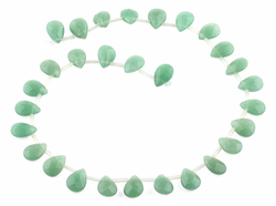 10x14MM Green Aventurine Faceted Gemstone Beads