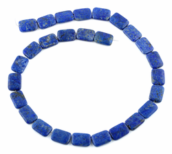 10x14MM Lapis Thin Tube Gemstone Beads