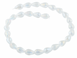 10x15mm White Drop Faceted Crystal Beads