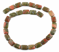 11x15MM Unakite Rectangular Gemstone Beads