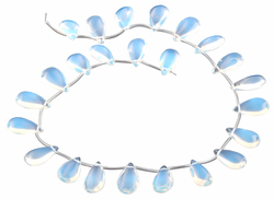 12x22MM Opalite Flat Drop Gemstone Beads