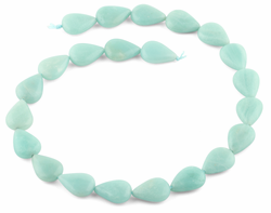 13x18MM Amazonite Pear Gemstone Beads