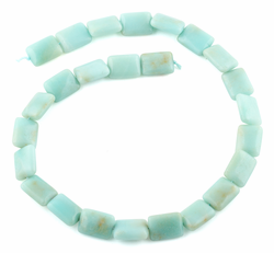 13x18MM Amazonite Puffy Rectangular Gemstone Beads
