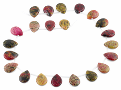 14x19MM Red Turtle Jasper Pear Gemstone Beads