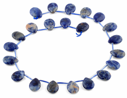 13x18MM Sodalite Pear Gemstone Beads