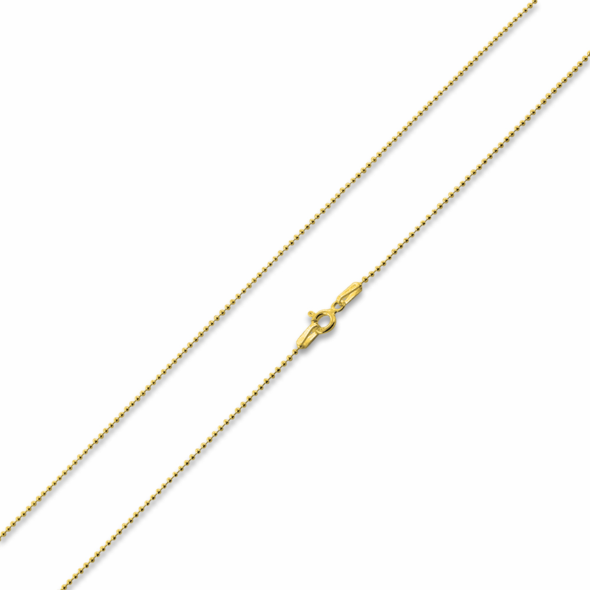 14k gold plated sterling silver 7 quot bead chain 1 2mm