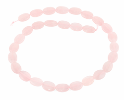 14x10MM Rose Quartz Puffy Oval Gemstone Beads