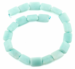 15x20MM Amazonite Puffy Rectangular Gemstone Beads