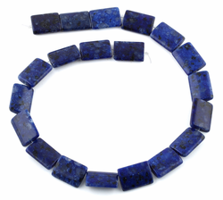 15x20MM Lapis Jasper Dome Rectangular Gemstone Beads