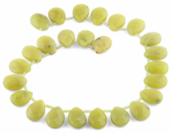 15x20MM Olive Jade Gemstone Beads