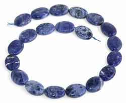 15x20MM Sodalite Oval Gemstone Beads