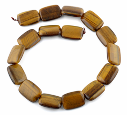 18x25MM Tiger Eye Puffy Rectangular Gemstone Beads