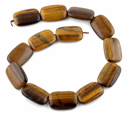 20x30MM Tiger Eye Puffy Rectangular Gemstone Beads