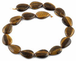 25x18MM Tiger Eye Drop Gemstone Beads