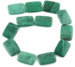 25x35MM Brazil Rainforest Jasper Rectangular Gemstone Beads