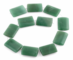 25x35MM Green Aventurine Rectangle Gemstone Beads