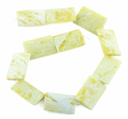 25x35MM Lemon Puffy Rectangular Gemstone Beads