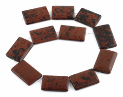 25x35MM Mahogany Obsidian Rectangle Gemstone Beads