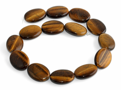 30x22MM Tiger Eye Puffy Oval Gemstone Beads