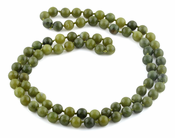 "32"" 8mm China Serpentine Round Gemstone Bead Necklace"