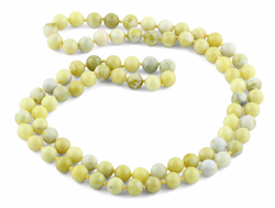 "32"" 8mm Pineapple Jasper Round Gemstone Bead Necklace"