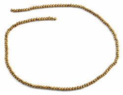 3mm Metal Gold Faceted Rondelle Glass Beads