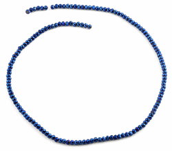 3mm Navy Blue Faceted Rondelle Glass Beads