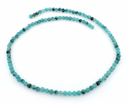 4mm Plain Round Aqua Quartz Gem Stone Beads