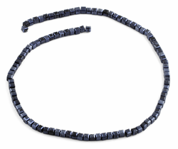 4x4mm Navy Blue Square Faceted Crystal Beads