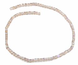 4x4mm Vintage Pink Square Faceted Crystal Beads