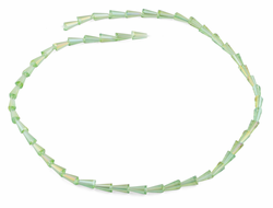 4x8mm Green Cone Faceted Crystal Beads