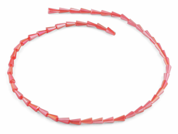 4x8mm Pink Cone Faceted Crystal Beads