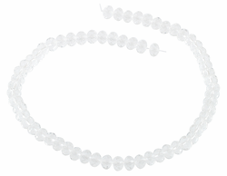 6-8mm Clear Faceted Rondelle Crystal Beads